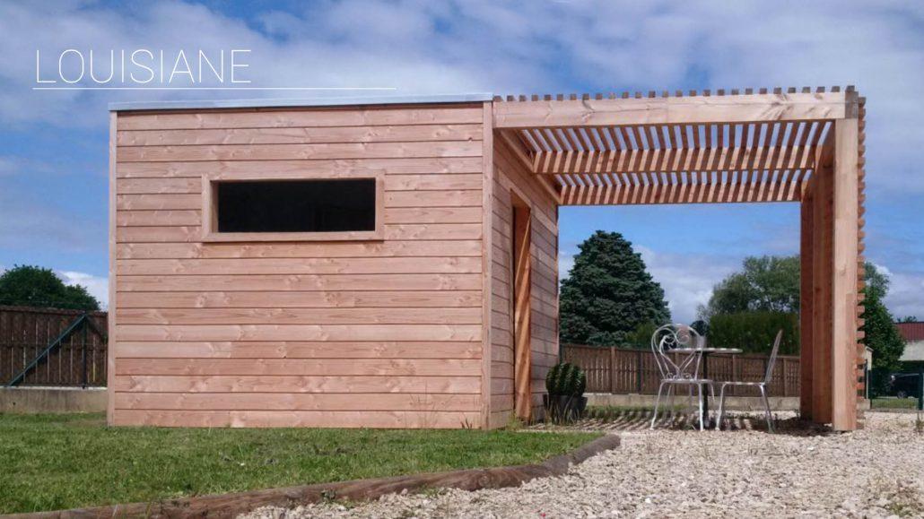 Terrasse bois avec pergola gallery of pergola toile for Terrasse bois avec pergola